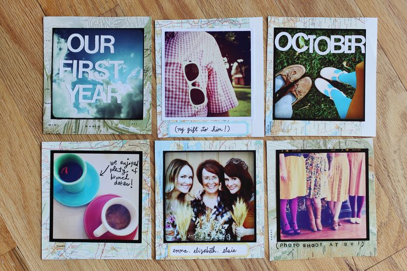 Our First Year Instagram Scrapbook A Beautiful Mess