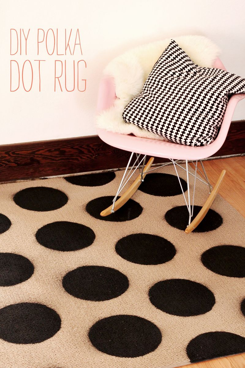 Diy Polka Dot Rug A Beautiful Mess