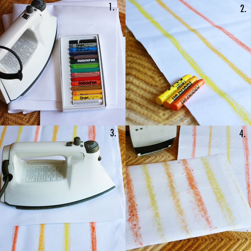 Fabric fun crayons steps
