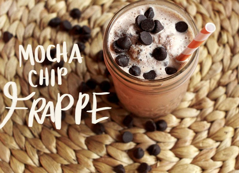 Make Your Own Mocha Chip Frappe