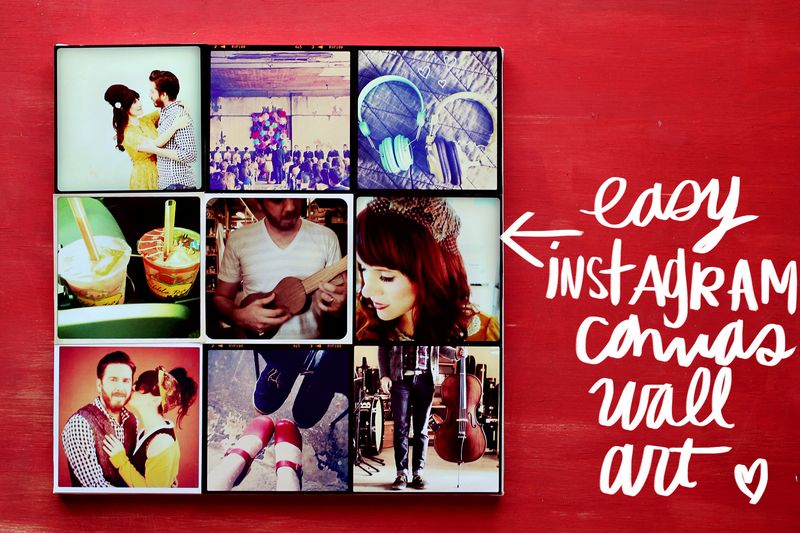 DIY INSTAGRAM CANVAS WALL ART 2