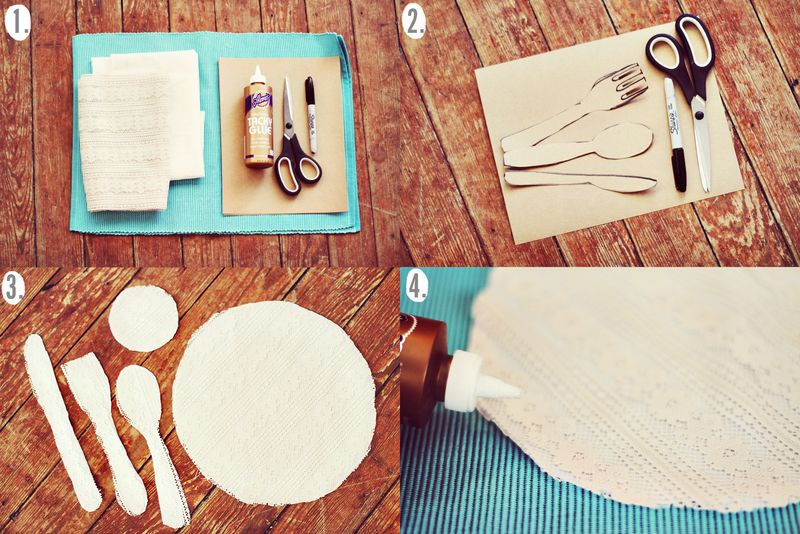 Place setting placemat DIY steps