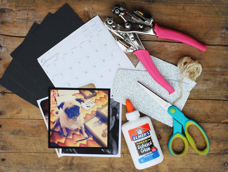 Calendar diy supplies