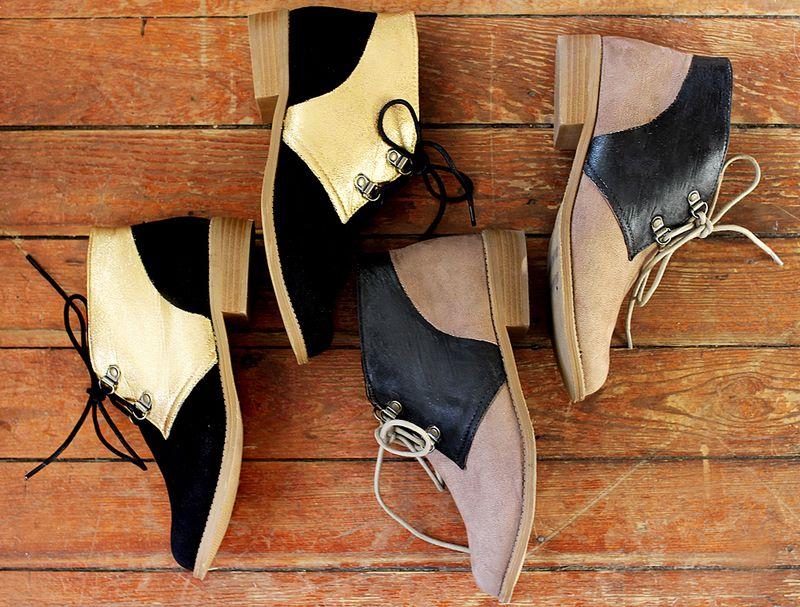 Color block shoes 2