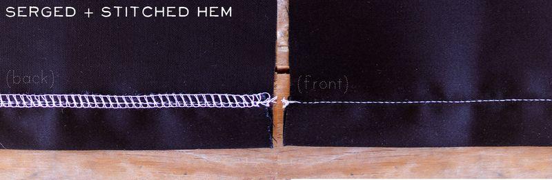 Serged & Stitched Hem