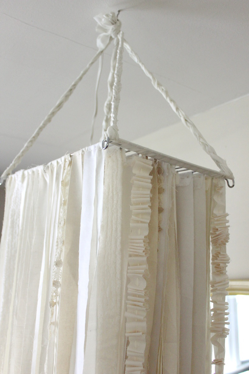 Diy oversized fabric garland chandelier a beautiful mess 9 aloadofball Images