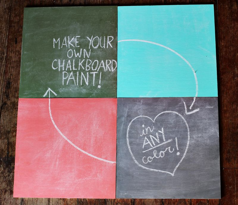 Mix Chalkboard Paint In Any Color