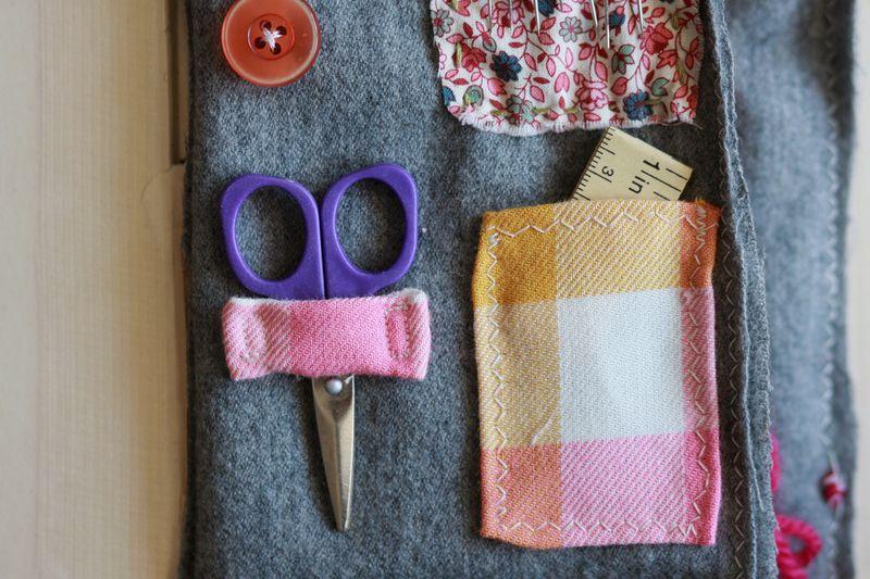Vintage book sewing kit 6