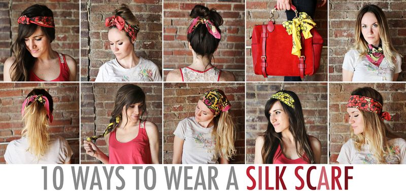 10 Ways To Wear A Silk Scarf A Beautiful Mess