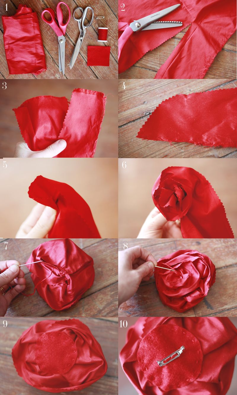 Make your own silk flower brooches a beautiful mess silk flower broach diy mightylinksfo