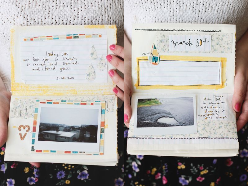 4 rain diary pages 1