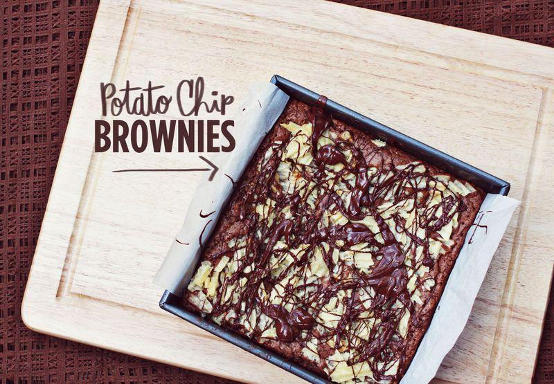 Potato chip brownies