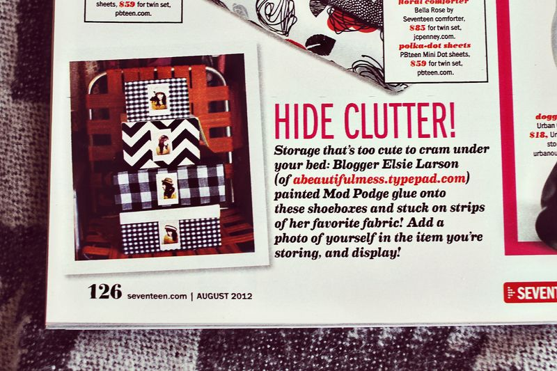 A Beautiful Mess in Seventeen Magazine