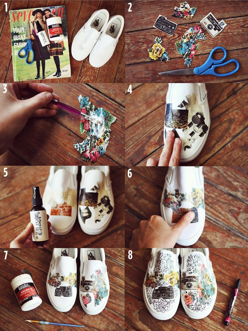Vans DIY by A Beautiful Mess