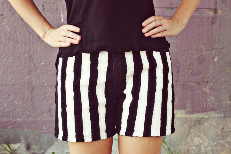 How to make stripe shorts