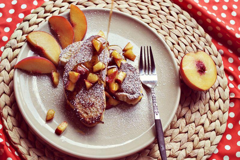 Peaches and Cream Stuffed French Toast Recipe : A Beautiful Mess
