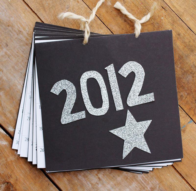 2012 calendar diy