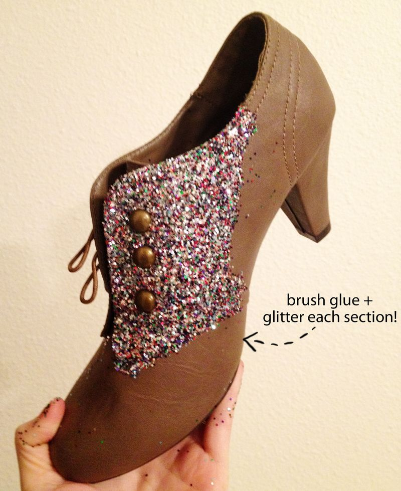 How To Make Glitter Shoes A