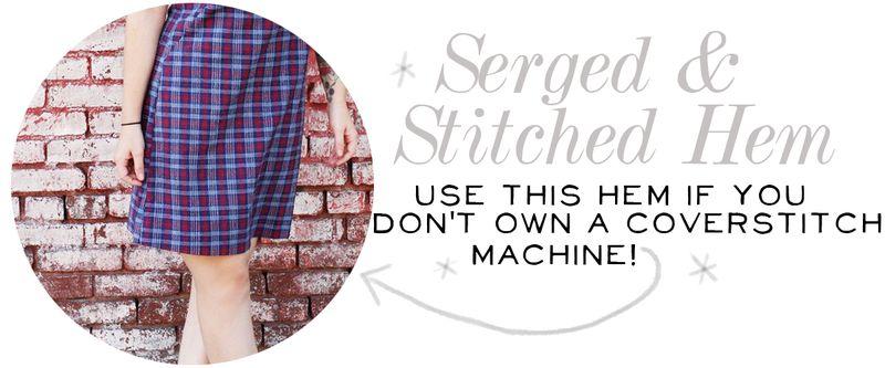 Serged & Stitched Hem 2