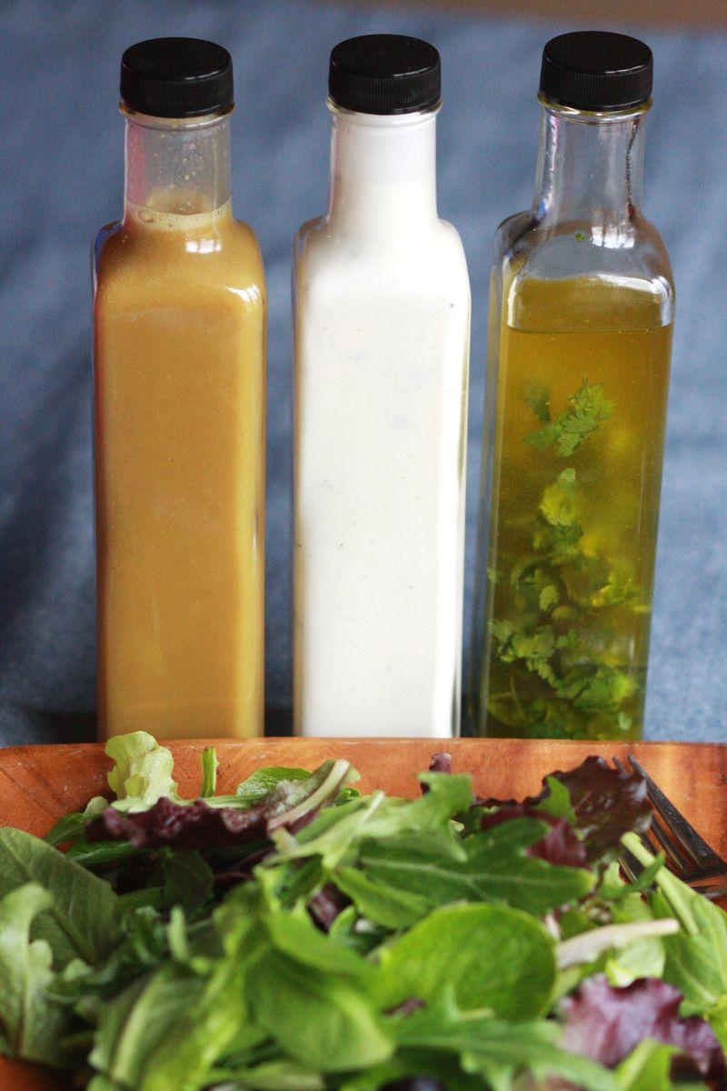 Make Your Own Salad Dressings 1