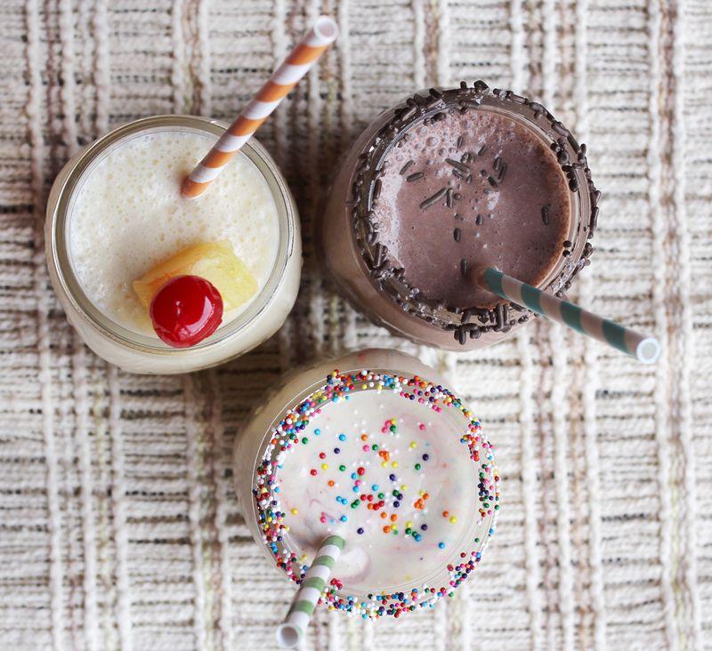 Cake batter milkshakes 1