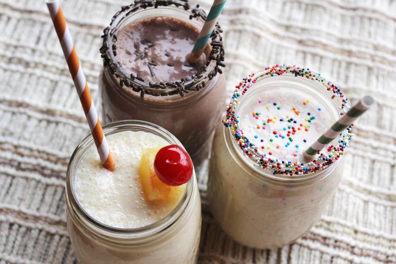 Cake batter milkshakes 2