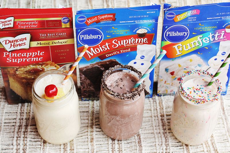 Remarkable 3 Cake Batter Milkshake Recipes A Beautiful Mess Funny Birthday Cards Online Eattedamsfinfo