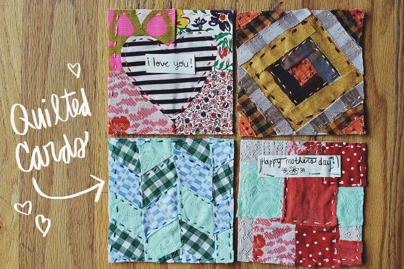 Quilted mother's day cards 1