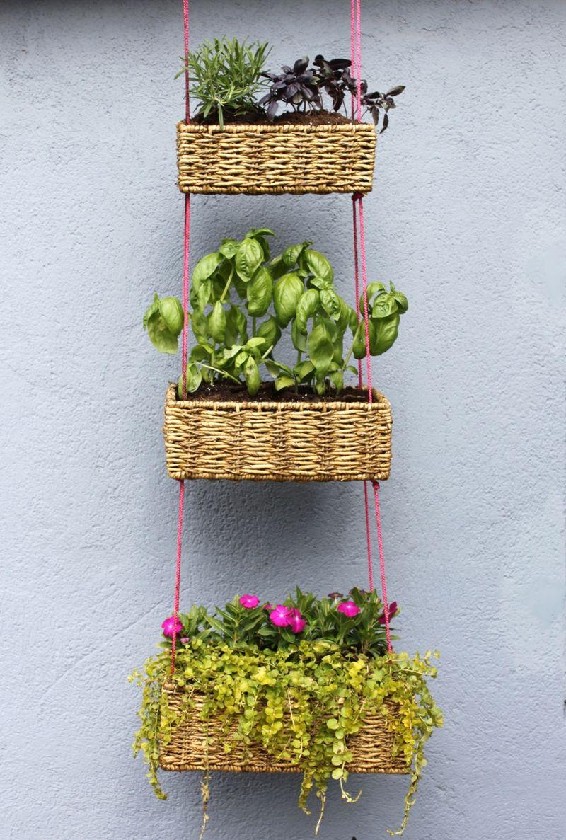 Hanging Basket Garden DIY - A Beautiful Mess