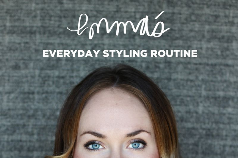 Emma's everyday styling routine