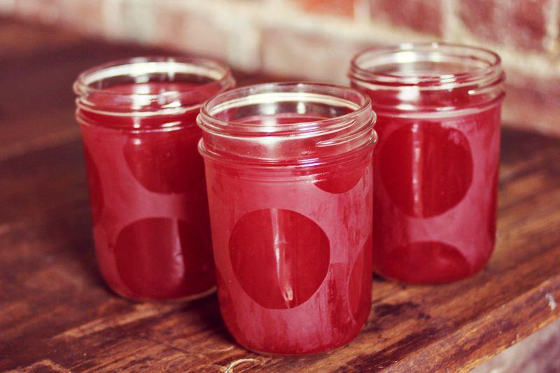 Etched glass mason jar