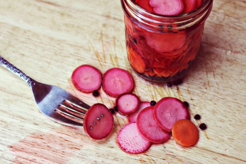 Homemade Pickled Radish + Carrot