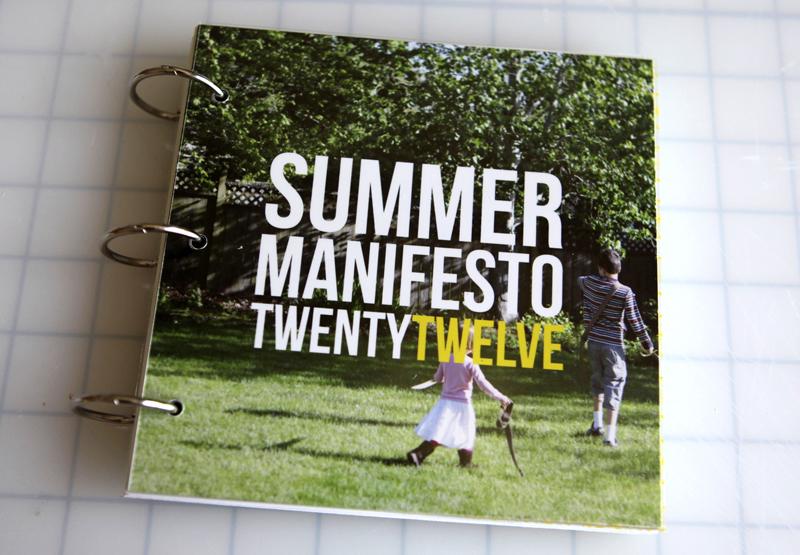 Summer Manifesto Book