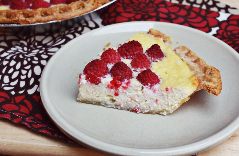 Ricotta raspberry pie2