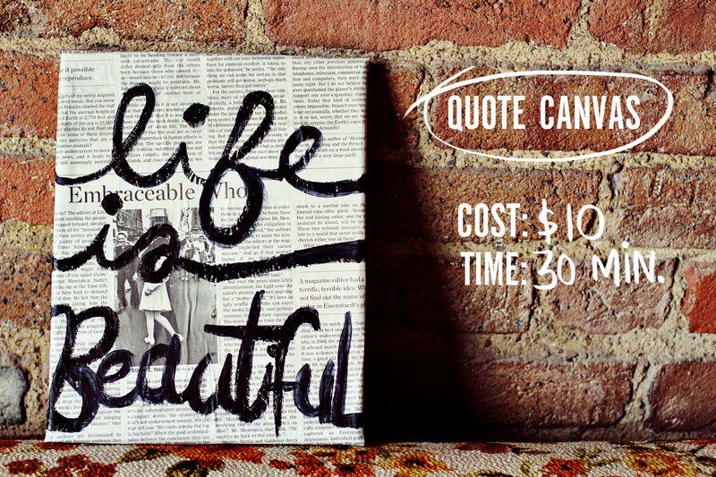 Quote canvas DIY