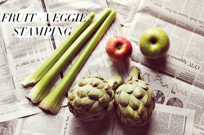 Fruit + Veggie Stamping