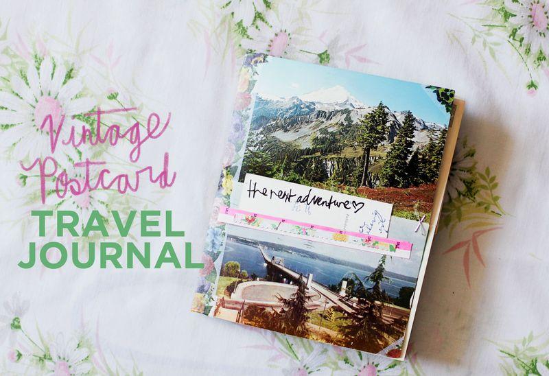 Vintage postcard travel journal 1