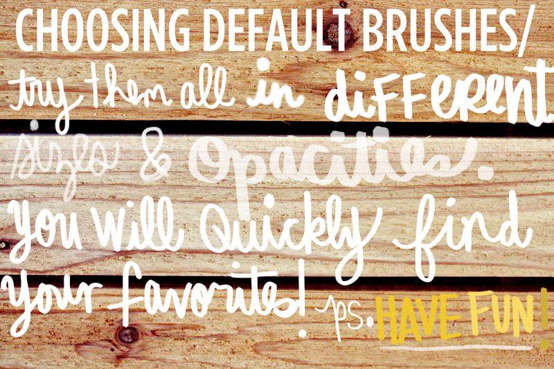 Choosing default brushes