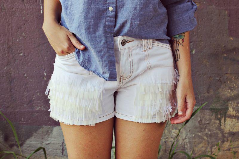 Fringe shorts