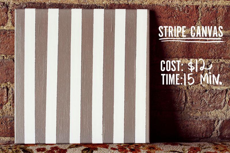 Stripe canvas DIY