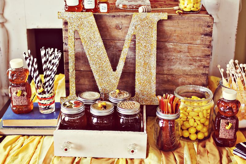 Honey Themed Baby Shower by A Beautiful Mess