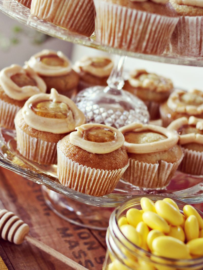 Peanut Butter and Honey Cupcakes by A Beautiful Mess