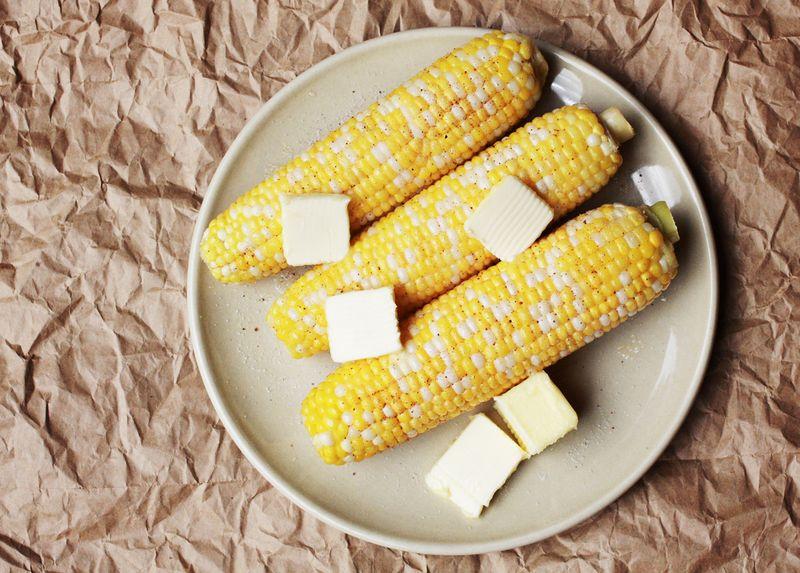 Sweet corn on the cob
