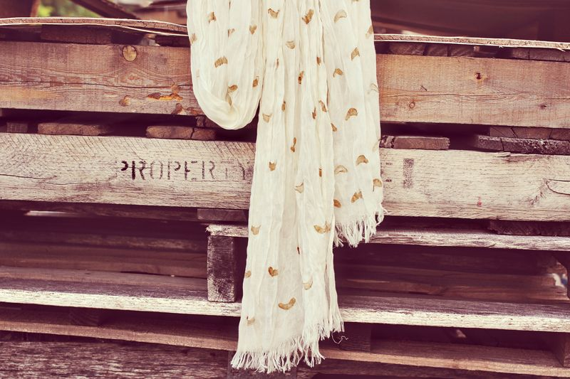 Gold Stamped Scarf DIY by A Beautiful Mess
