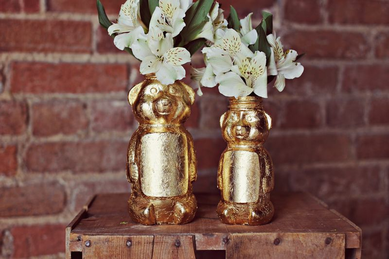 Gold Honey Bear Vase Diy A Beautiful Mess