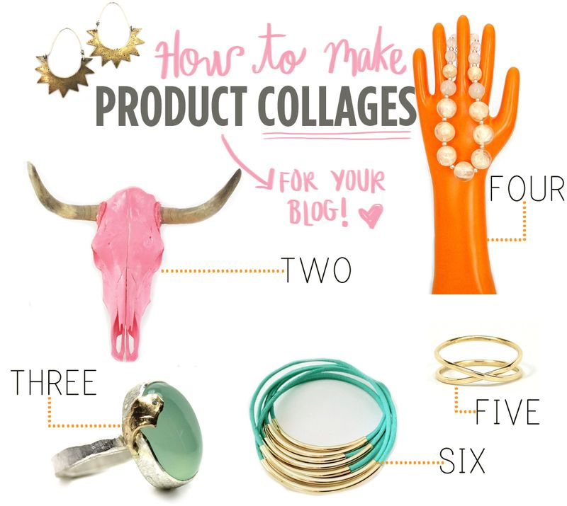 How to make product collages for your blog