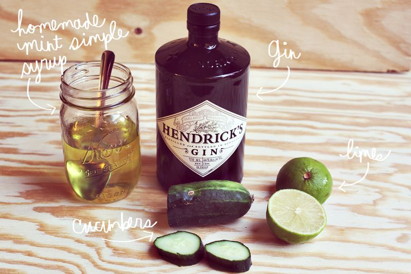 Cucumber Gimlet Recipe via A Beautiful Mess