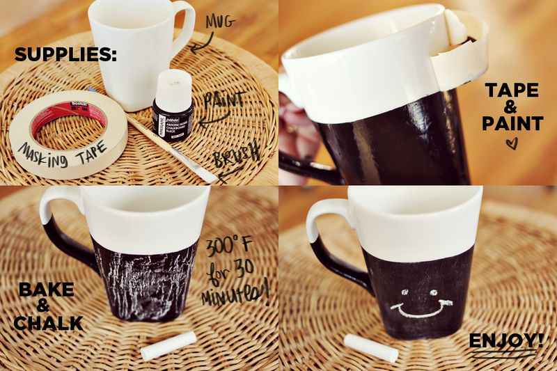 Chalkboard Mug Steps