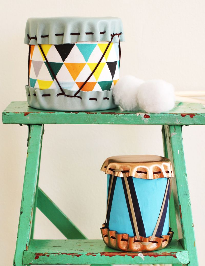 Adorable DIY Drums