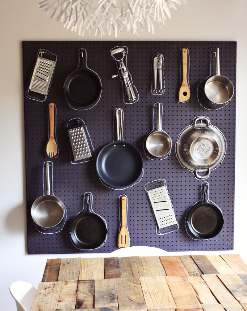 Diy Kitchen Pegboard A Beautiful Mess